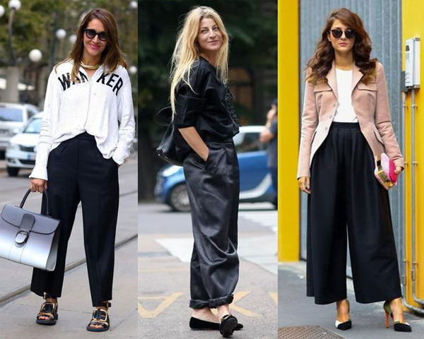 Loose pants at Milan
