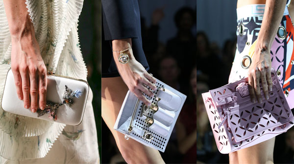 Clutches with elegant decorations
