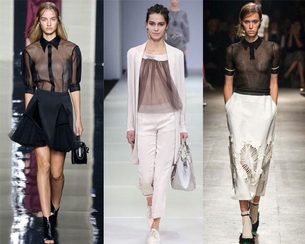Transparent womens blouses