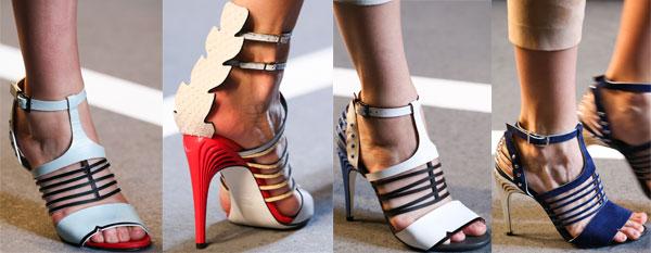 Stiletto heel summer sandals