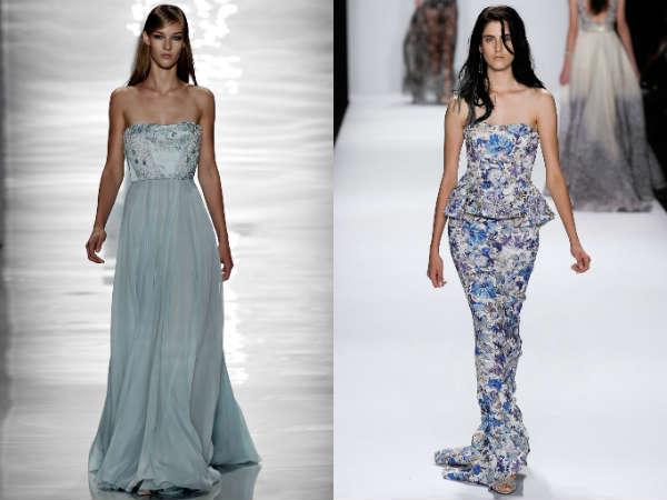 Strapless evening dresses for women