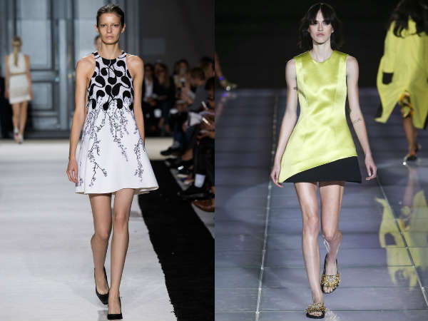 Trendy bare shoulders dress