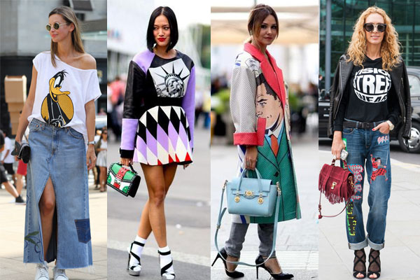 Graphic prints street style