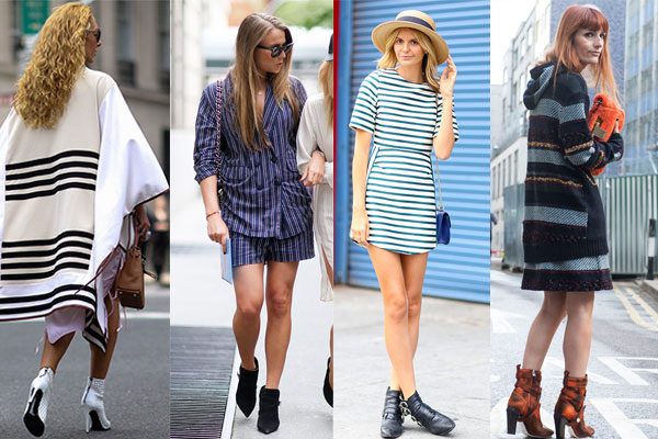 Striped dresses, blouses, tops