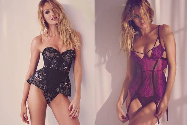 Candice Swanepoel in lingerie for valentines day 2016