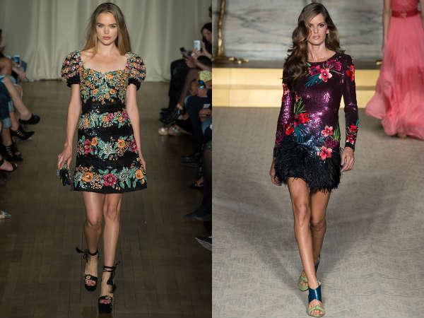 Models of floral cocktail dresses