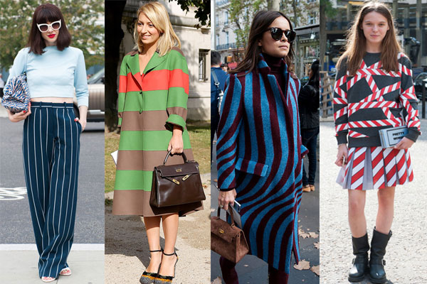 Vertical and horizontal stripes