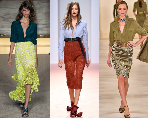 Blouses and skirts fashions
