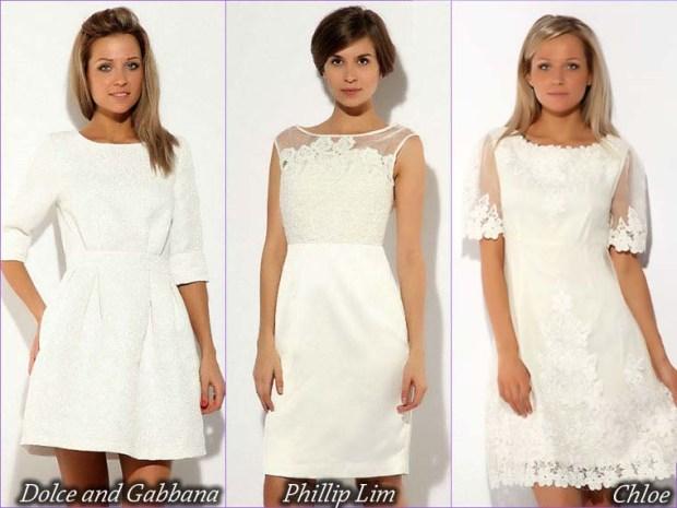 White short prom dresses 2016