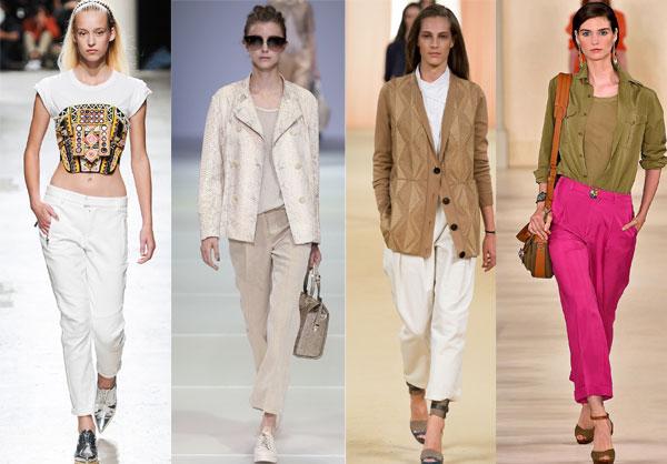 Capri office pants for women