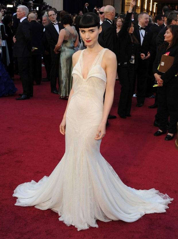 Rooney Mara in Givenchy dress, 2012