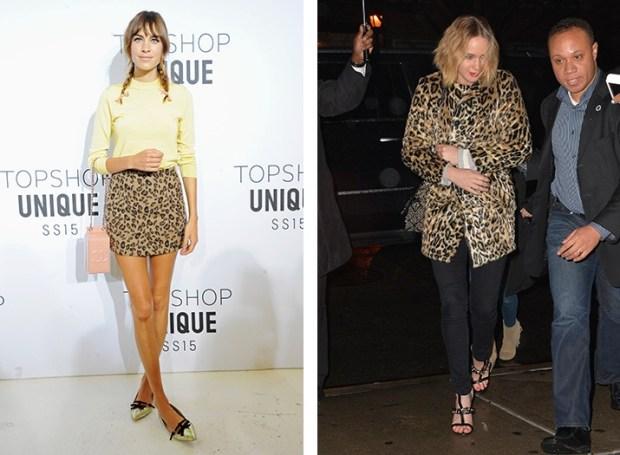 Alexa Chung and Jennifer Lawrence wear leopard print