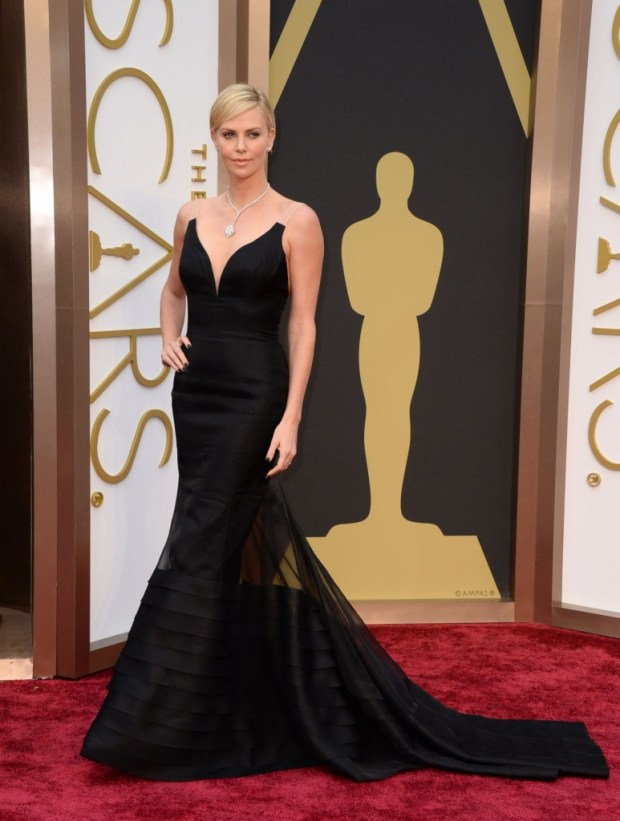 Charlize Theron in Dior dress, 2015