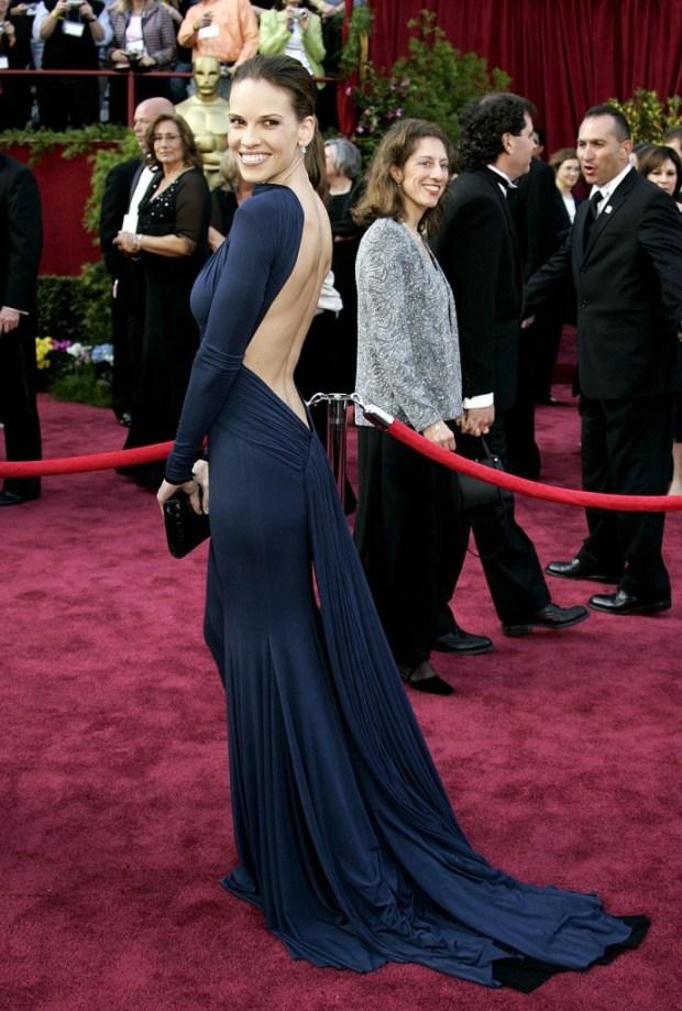 Hilary Swank in a dress by Guy Laroche, 2005