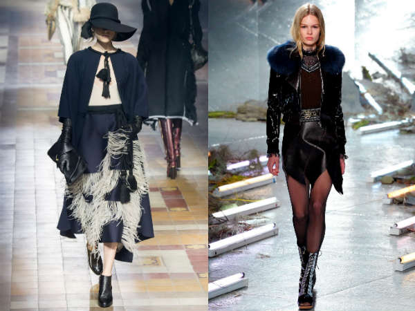 Elegant leather skirts