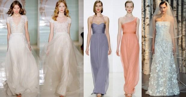 Wedding dresses 2016 trendy colors