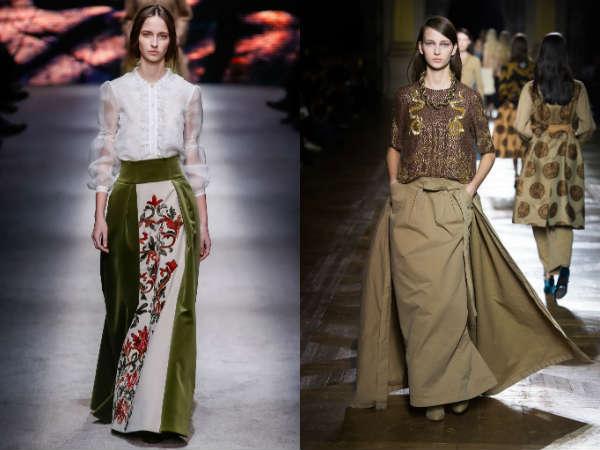 Long large skirts