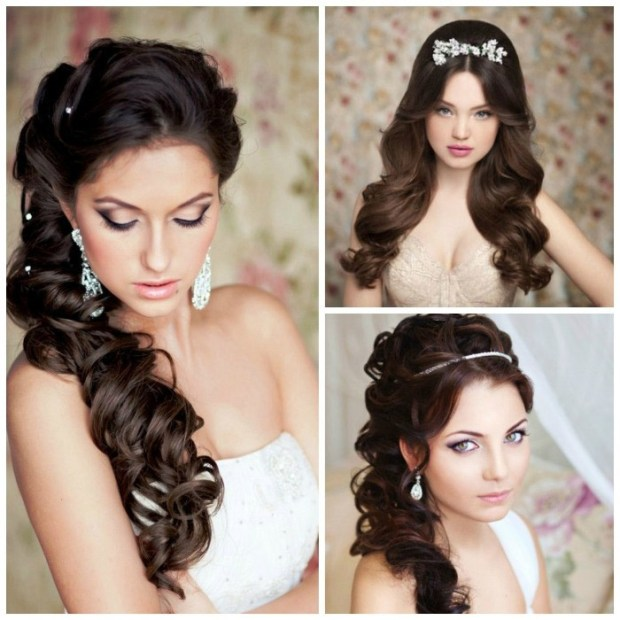 Wedding hairstyles for long and medium hair