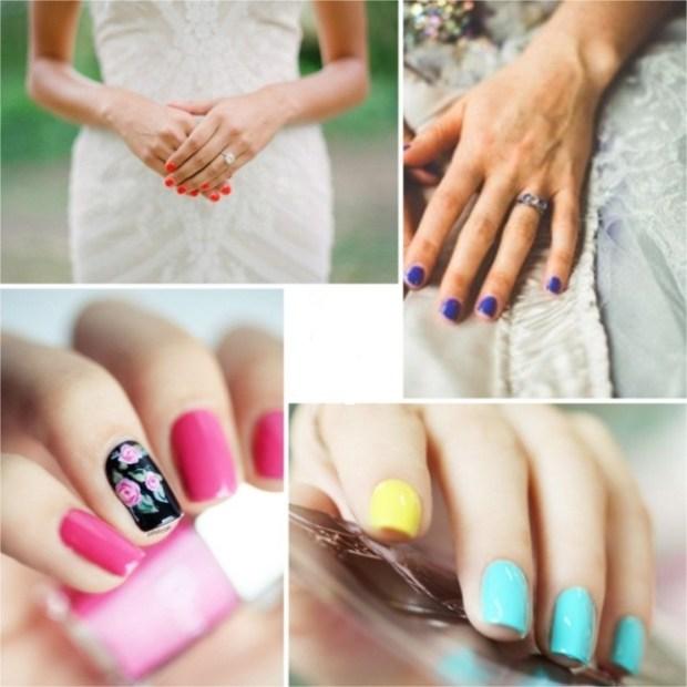 Shellac wedding nails 2016