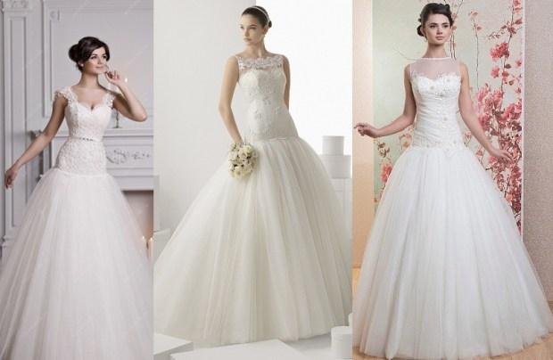 Drop waist bridal gown