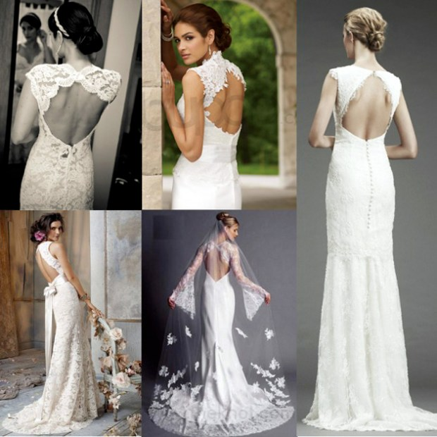 Open back bridal gowns 2016