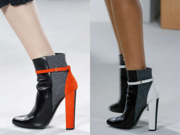 Ankle boots for women fall -winter 2016 2017 different textures