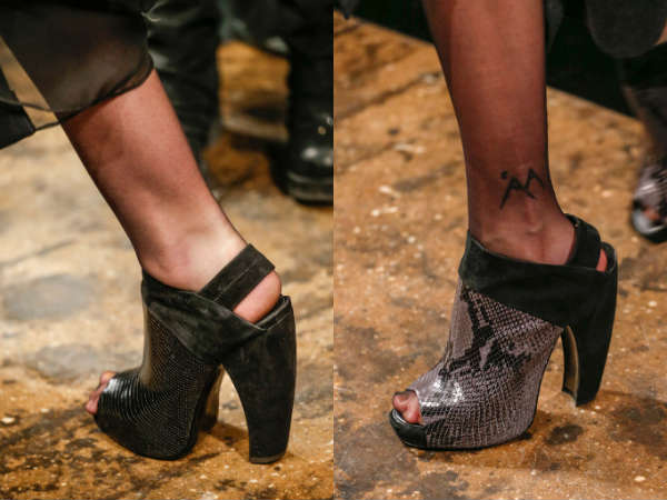 leather shoes with thick heel and sole