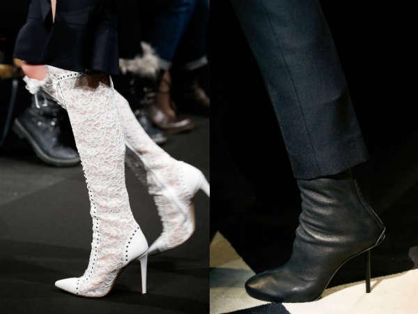 women knee high heels