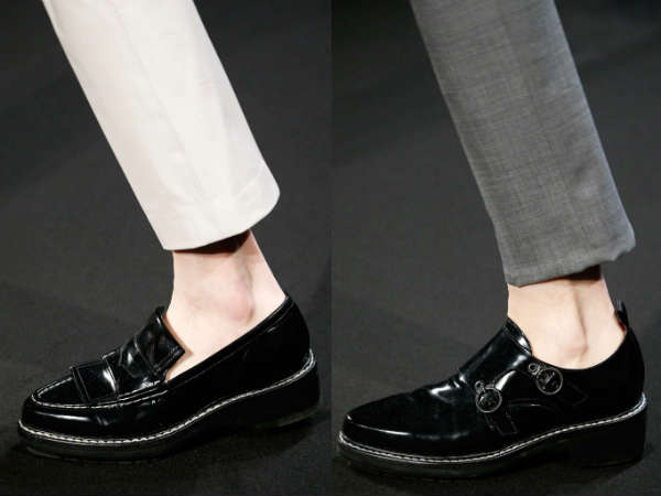 masculine style patent leather