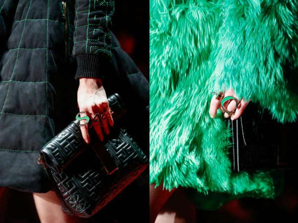 Versace letter rings