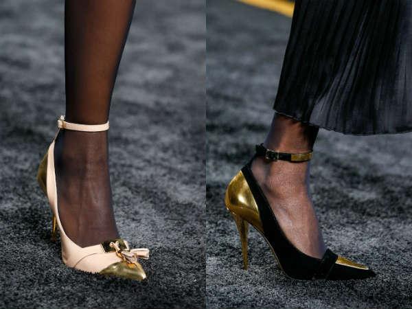 evening elegant gold toe