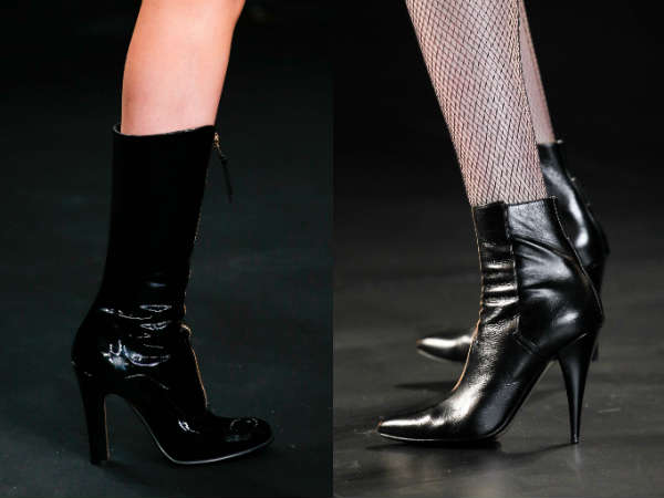 patent leather above knee