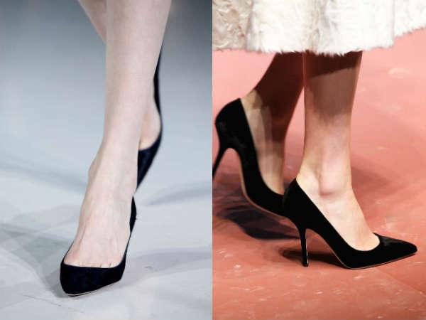black medium heel