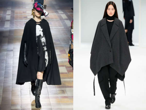 Trendy knitted capes
