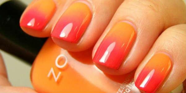 ombre ideas orange lipstick