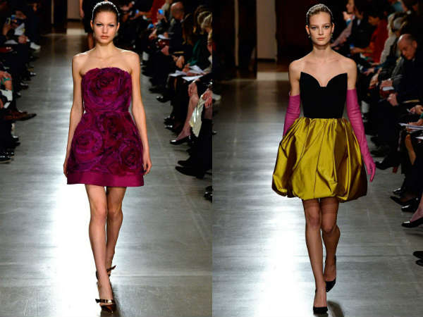 Fall Winter 2016 2017 Bustier cocktail dresses