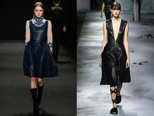 Leather casual dresses Fall 2016 Winter 2017