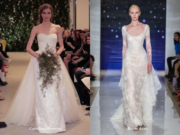 Wedding dresses 2017 with additional skirt