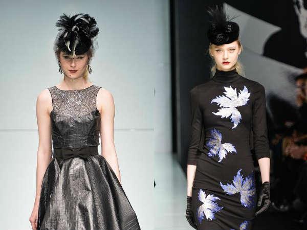womens hats in futurist style