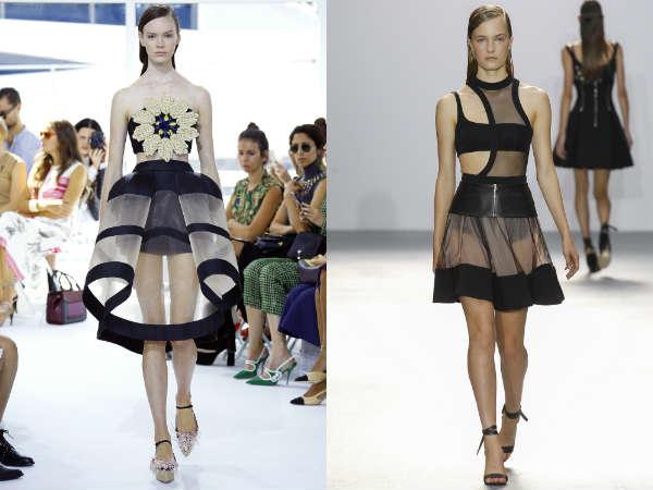 Transparent fabric designs
