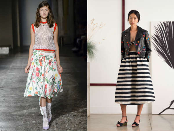 Elegant women midi skirt