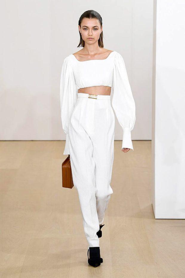 White high waist pants 2020
