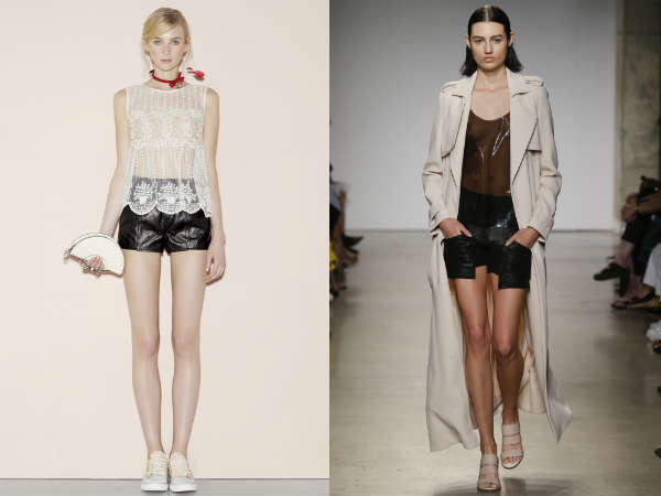 Leather shorts Spring-Summer 2017