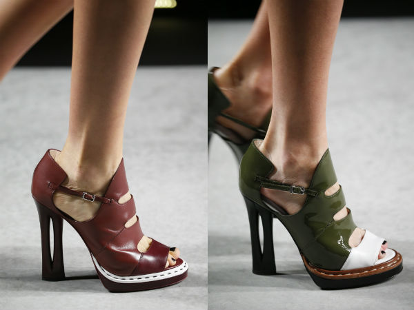 Leather heeled shoes spring summer 2017