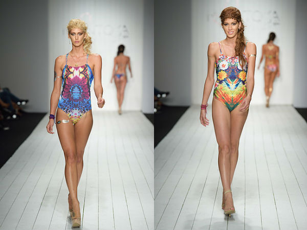 one piece with floral print