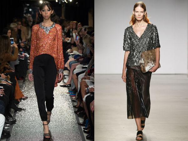 Shiny blouses spring summer 2017