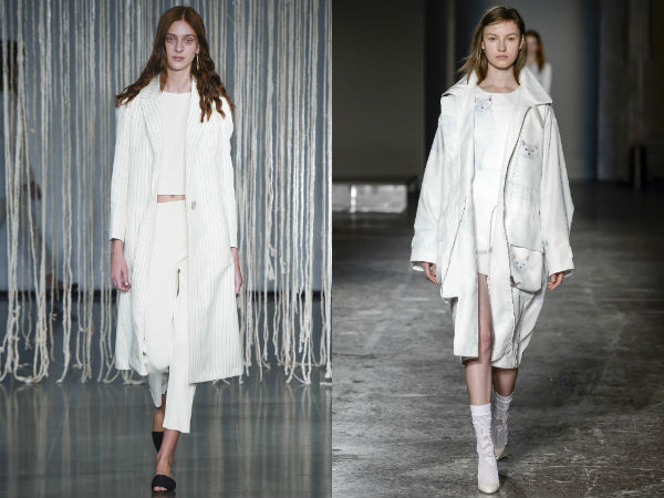 White women's trench coats
