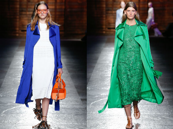 Bright colors trench coats
