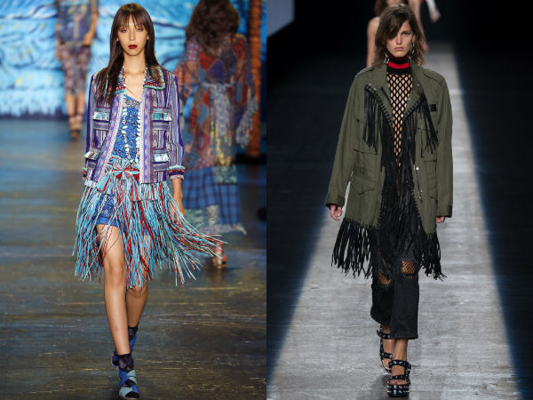 Stylish clothes with fringes