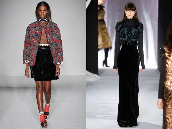 Velvet skirts 2018